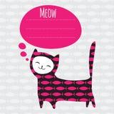 Cartão com gato Imagem de Stock Royalty Free