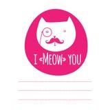 Cartão com gato engraçado Foto de Stock