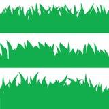 Cartão com grama verde Fotos de Stock Royalty Free