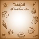 Cartão com a imagem de um alimento doce Foto de Stock Royalty Free