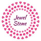 Cartão com joia do diamante Imagem de Stock Royalty Free