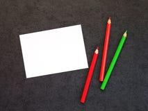 Cartão com lápis da árvore Imagens de Stock