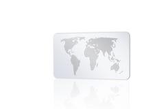 Cartão com mapa de mundo 2 ilustração stock