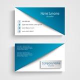 Cartão com molde branco azul do fundo Fotos de Stock