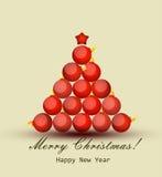 Cartão com Natal e ano novo Foto de Stock Royalty Free