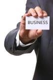 Cartão com negócio Imagens de Stock