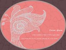 Cartão com o pavão azul abstrato Imagens de Stock