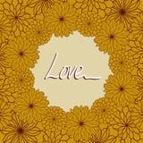 Cartão com ornamento florais Imagem de Stock
