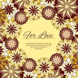 Cartão com ornamento florais Imagens de Stock