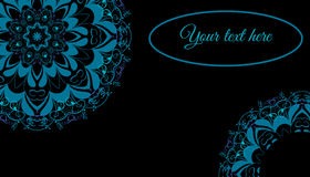 Cartão com ornamento mandala5 Imagens de Stock