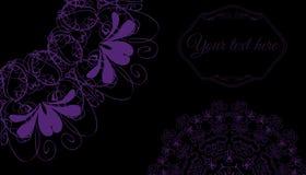 Cartão com ornamento mandala02 Fotografia de Stock Royalty Free