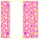 Cartão com orquídeas cor-de-rosa Ilustração do vetor Fotos de Stock Royalty Free