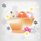 Cartão com ovos de Easter Imagens de Stock