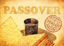 Cartão com a páscoa judaica Pesach - grande feriado judaico da mola foto de stock