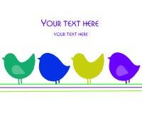 Cartão com pássaros Imagem de Stock Royalty Free
