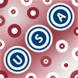 Cartão com palavra EUA Fotografia de Stock