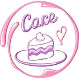 Cartão com pedaço de bolo Foto de Stock Royalty Free