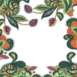 Cartão com plantas originais Fotos de Stock Royalty Free
