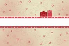 Cartão com presentes ilustração royalty free