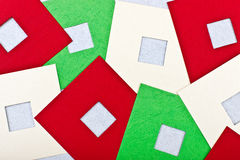 Cartão com quadrados coloridos Imagem de Stock
