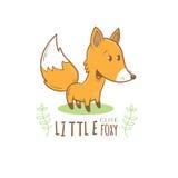Cartão com raposa Imagens de Stock