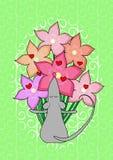 Cartão com rato Imagens de Stock Royalty Free