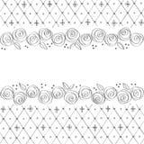 Cartão com rosas ilustração stock