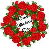 Cartão com rosas vermelhas Fotos de Stock