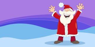 Cartão com Santa feliz ilustração royalty free