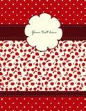 Cartão com teste padrão das cerejas para seu projeto Fotos de Stock Royalty Free