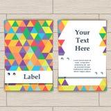 Cartão com teste padrão de pastilhas coloridas Foto de Stock Royalty Free