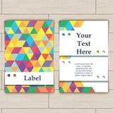 Cartão com teste padrão de pastilhas coloridas Fotos de Stock Royalty Free