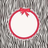Cartão com textura da zebra. Imagens de Stock Royalty Free