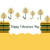 Cartão com tulips Imagens de Stock