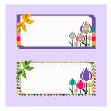 Cartão com tulips Fotografia de Stock Royalty Free