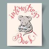 Cartão com um rato Fotos de Stock