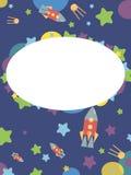 Cartão com um tema do espaço Imagens de Stock