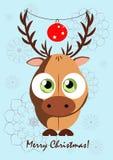Cartão com uma imagem de um cervo Imagem de Stock