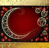Cartão com uma lua Foto de Stock Royalty Free