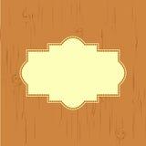 Cartão com uma luz da textura da árvore - bronzeie na cor Foto de Stock Royalty Free