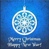 Cartão com uma música do Natal Fotografia de Stock