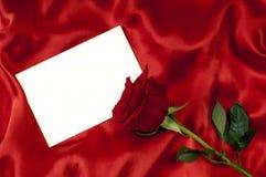 Cartão com uma rosa Fotografia de Stock