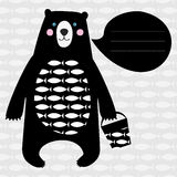 Cartão com urso preto Foto de Stock Royalty Free