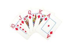 Cartão com vitória do póquer Imagem de Stock