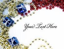 Cartão congratulatório de ano novo Imagens de Stock