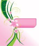 Cartão cor-de-rosa à moda Fotografia de Stock