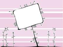 Cartão cor-de-rosa Fotos de Stock