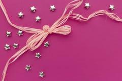 Cartão cor-de-rosa Imagem de Stock Royalty Free