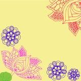 Cartão cor-de-rosa de Lotus das flores Imagem de Stock Royalty Free