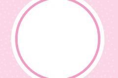 Cartão cor-de-rosa do casamento Fotos de Stock